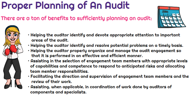 Benefits of proper planning of an audit