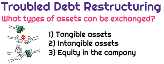 Types of assets that can be exchanged in TDR