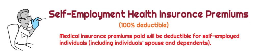 Are health insurance premiums tax deductible for a self ...